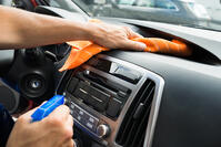 disinfecting car interior